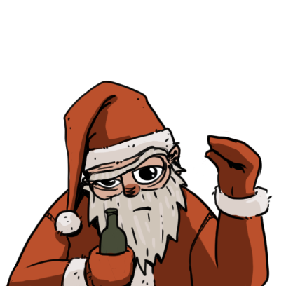 Edgy Santa messages sticker-5