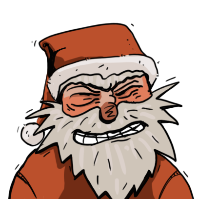 Edgy Santa messages sticker-8