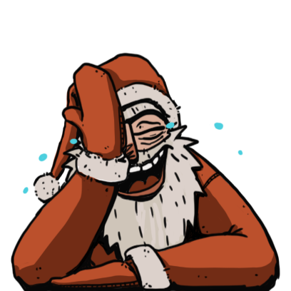 Edgy Santa messages sticker-2