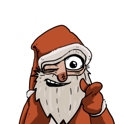 Edgy Santa messages sticker-4