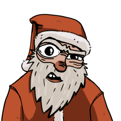 Edgy Santa messages sticker-9