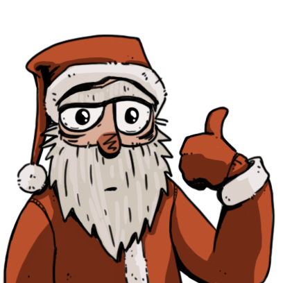 Edgy Santa messages sticker-0