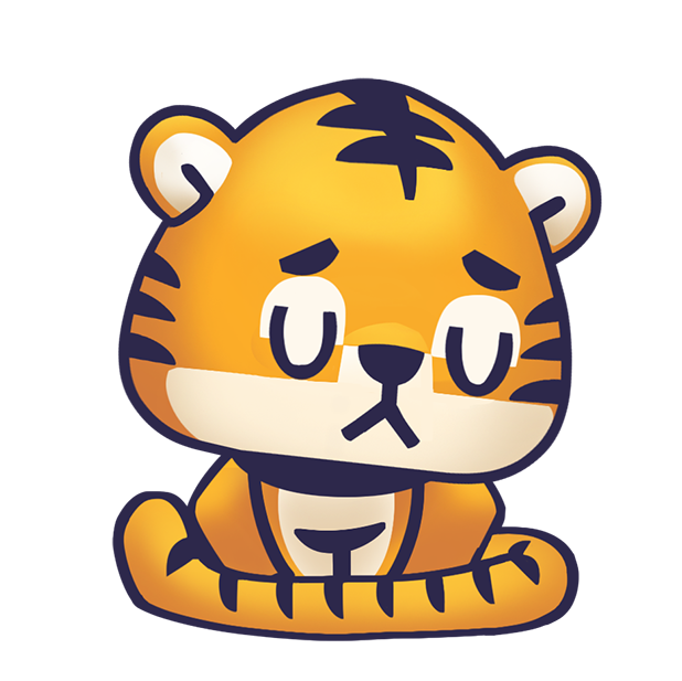Rawai Tiger - baby tiger stickers for kids park messages sticker-11