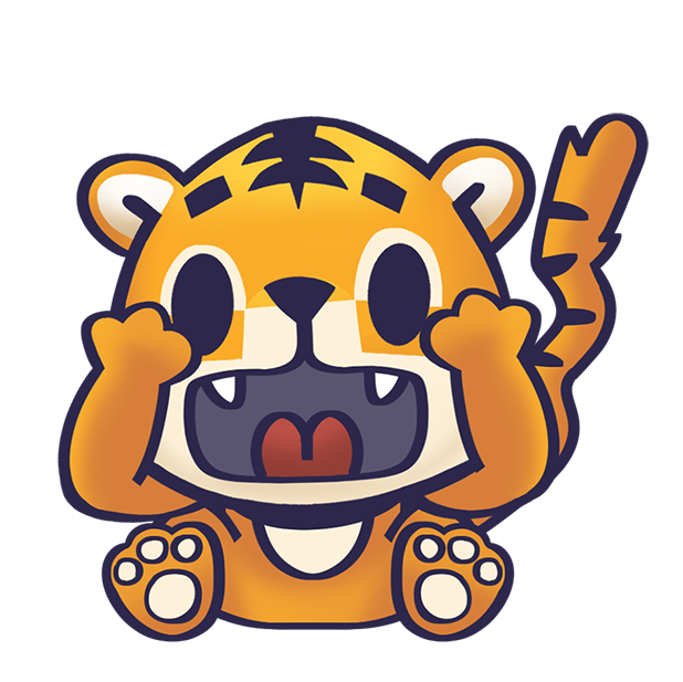 Rawai Tiger - baby tiger stickers for kids park messages sticker-5