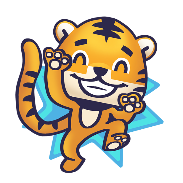 Rawai Tiger - baby tiger stickers for kids park messages sticker-10