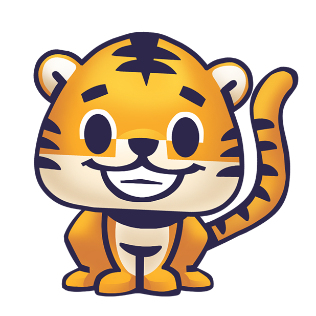 Rawai Tiger - baby tiger stickers for kids park messages sticker-0