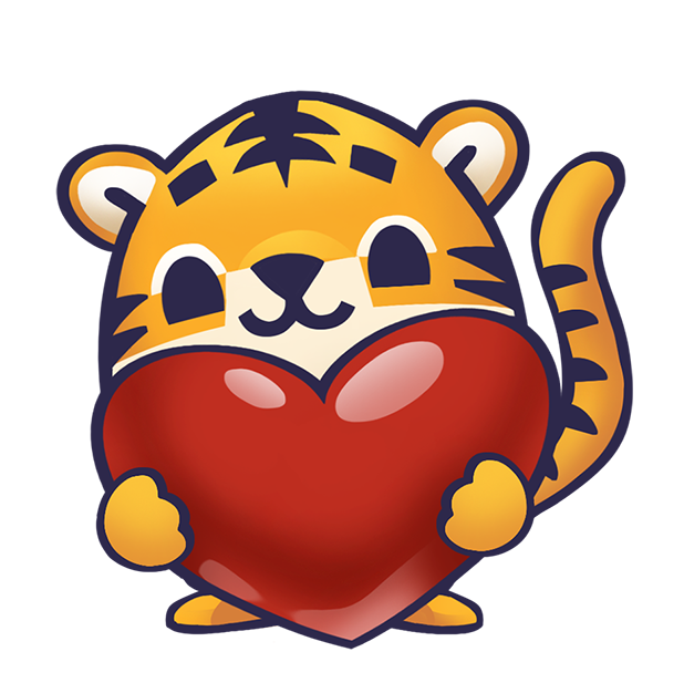 Rawai Tiger - baby tiger stickers for kids park messages sticker-8