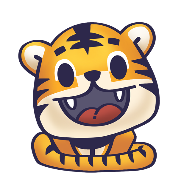 Rawai Tiger - baby tiger stickers for kids park messages sticker-1