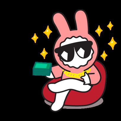 PinkRabbit messages sticker-8