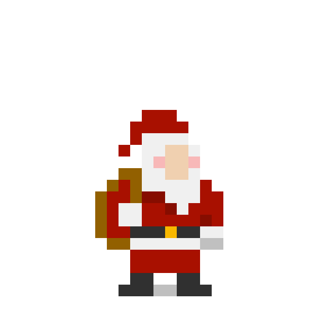 8 bit Christmas messages sticker-1