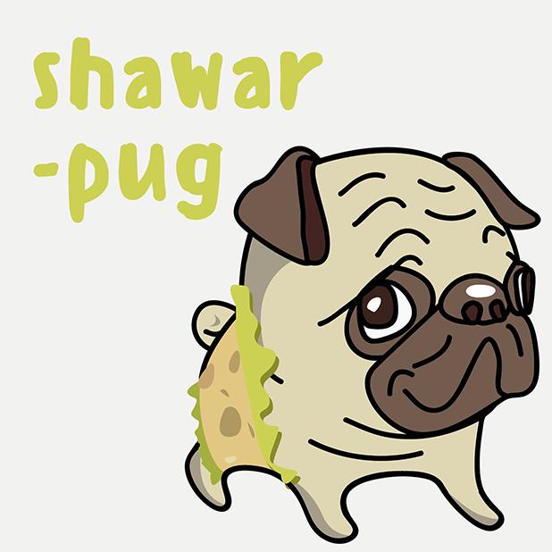 PUG Sticker messages sticker-3