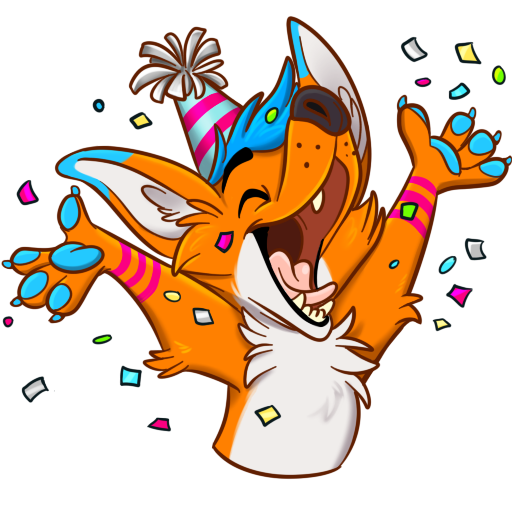 Avi Fox Sticker Pack messages sticker-10