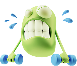 3D Workout Gym Emoji messages sticker-0
