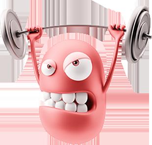 3D Workout Gym Emoji messages sticker-8