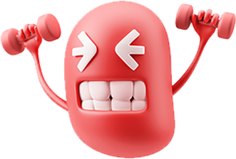 3D Workout Gym Emoji messages sticker-6