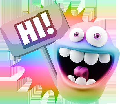 3D Spectrum Expressions messages sticker-11