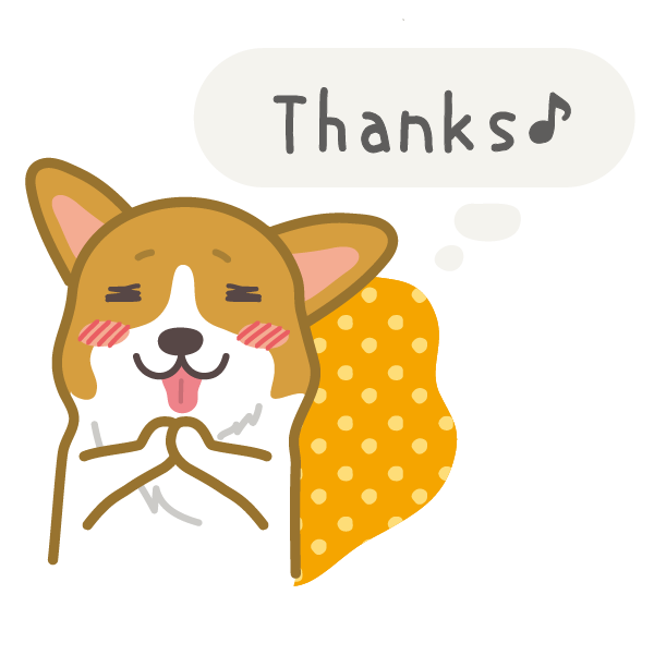Hot dog-Corgi (English ver.) messages sticker-3