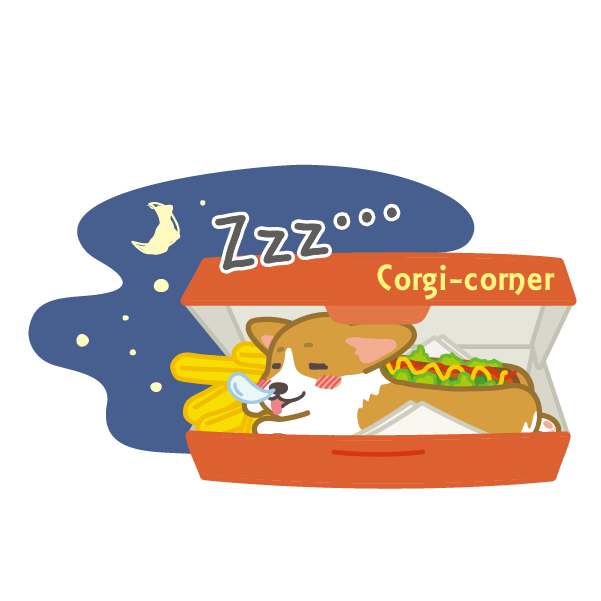 Hot dog-Corgi (English ver.) messages sticker-11