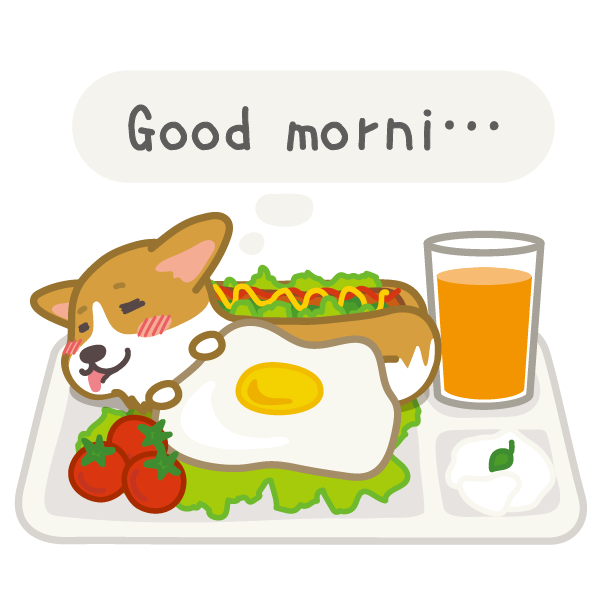 Hot dog-Corgi (English ver.) messages sticker-5