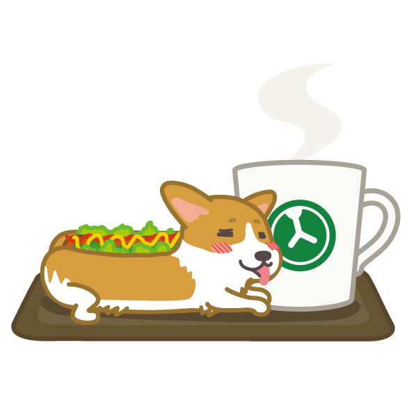 Hot dog-Corgi (English ver.) messages sticker-6