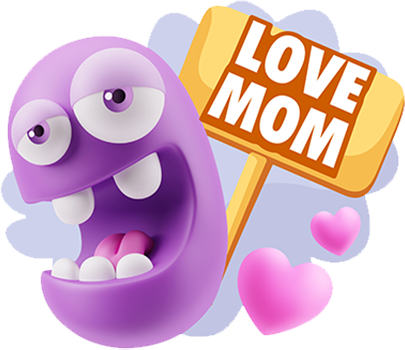 3D Love Expressions messages sticker-0