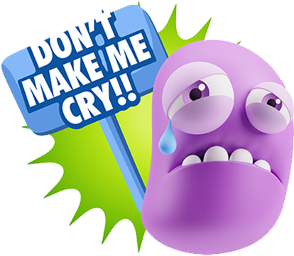 3D Sad Expressions messages sticker-2