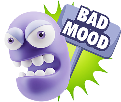 3D Bad Mood Expressions messages sticker-0