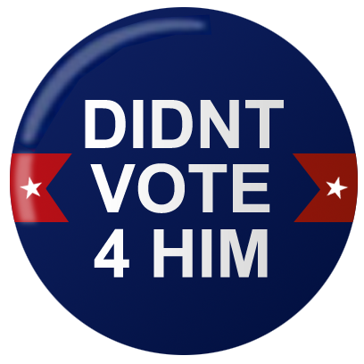 Not My PREZ - Trump Block & Boycott Stickers messages sticker-2