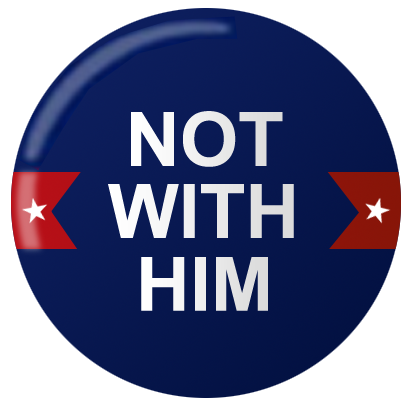 Not My PREZ - Trump Block & Boycott Stickers messages sticker-3