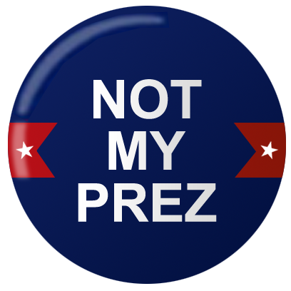 Not My PREZ - Trump Block & Boycott Stickers messages sticker-0