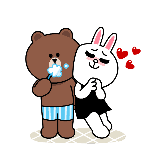 BROWN & CONY Sweet LOVE - LINE FRIENDS messages sticker-1