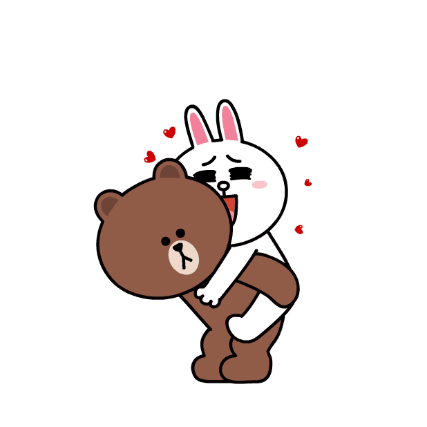 BROWN & CONY Sweet LOVE - LINE FRIENDS messages sticker-8