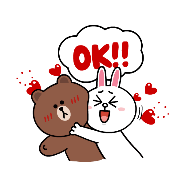 BROWN & CONY Sweet LOVE - LINE FRIENDS messages sticker-10