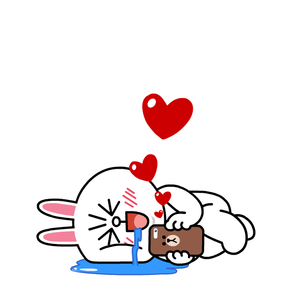 BROWN & CONY Sweet LOVE - LINE FRIENDS messages sticker-4