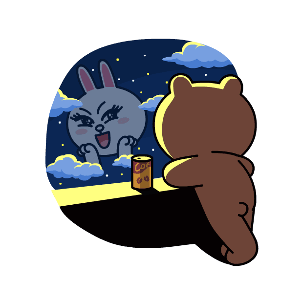 BROWN & CONY Sweet LOVE - LINE FRIENDS messages sticker-11