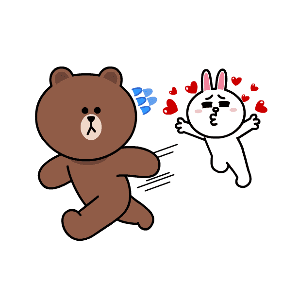 BROWN & CONY Sweet LOVE - LINE FRIENDS messages sticker-6