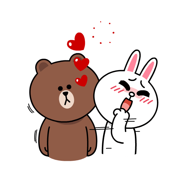 BROWN & CONY Sweet LOVE - LINE FRIENDS messages sticker-2