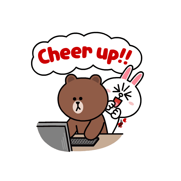 BROWN & CONY Sweet LOVE - LINE FRIENDS messages sticker-9
