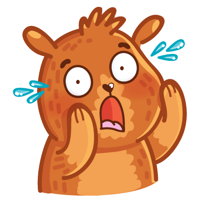 Bear stickers for iMessage messages sticker-11