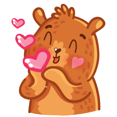 Bear stickers for iMessage messages sticker-8