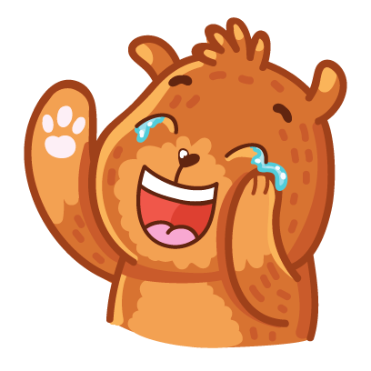 Bear stickers for iMessage messages sticker-2