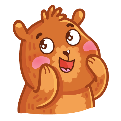 Bear stickers for iMessage messages sticker-3
