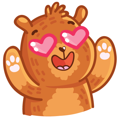 Bear stickers for iMessage messages sticker-7