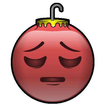 137 Christmas Emoji Ornament Stickers messages sticker-8