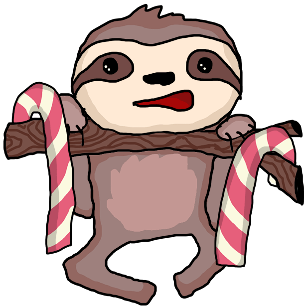 Christmas Holiday Sloths messages sticker-2
