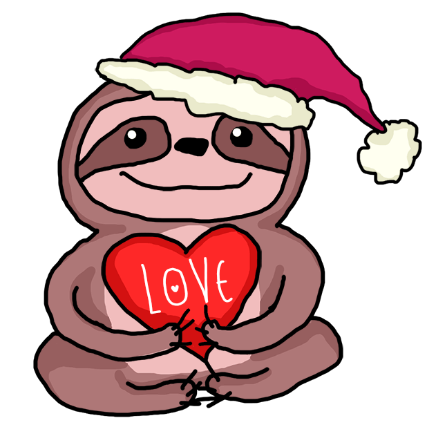 Christmas Holiday Sloths messages sticker-8