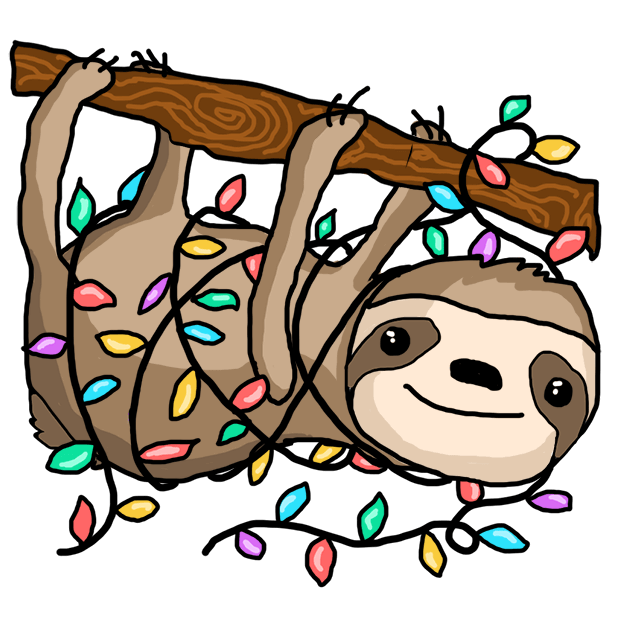 Christmas Holiday Sloths messages sticker-7