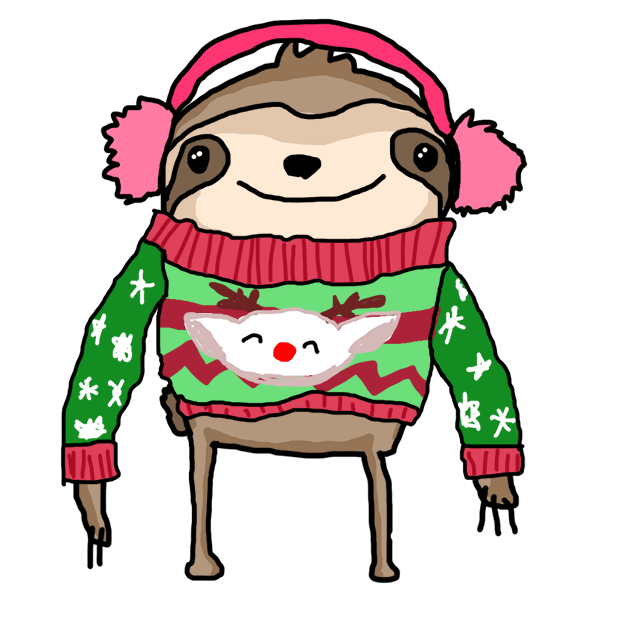 Christmas Holiday Sloths messages sticker-0
