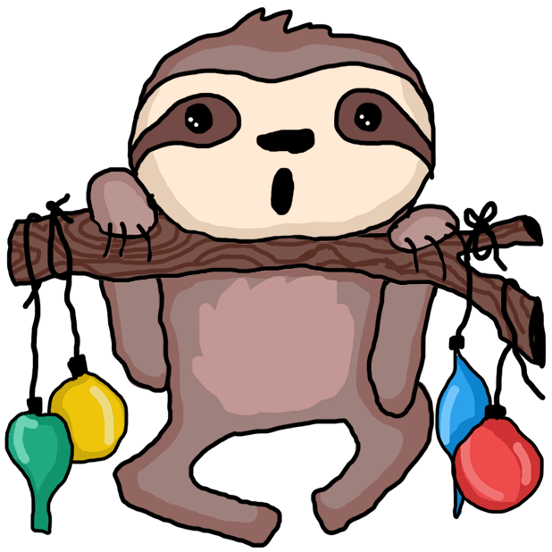 Christmas Holiday Sloths messages sticker-9
