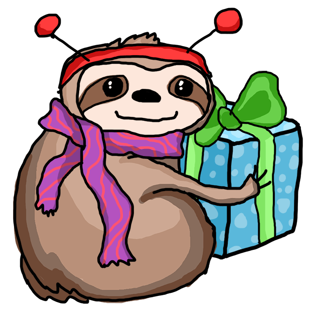 Christmas Holiday Sloths messages sticker-4
